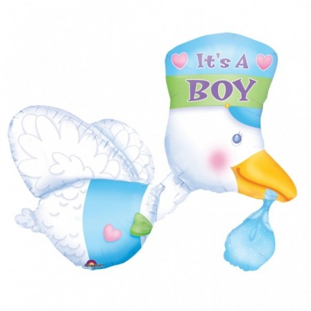 Balon folie figurina Barza It's a Boy