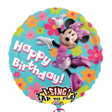 Folie jumbo muzicala Minnie Happy Birthday