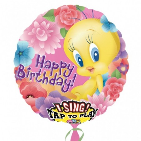 Folie jumbo muzicala Tweety Happy Birthday