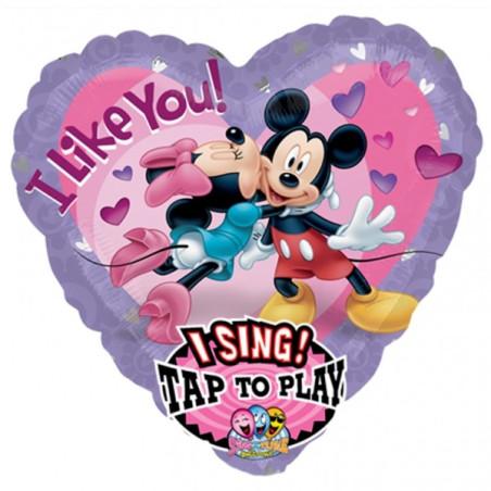 Folie jumbo inima muzicala Mickey and Minnie