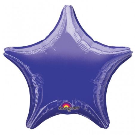 Balon folie 45 cm uni stea mov