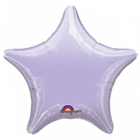 Balon folie 45 cm uni stea lavanda