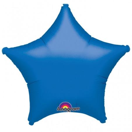 Balon folie 45 cm uni stea albastra
