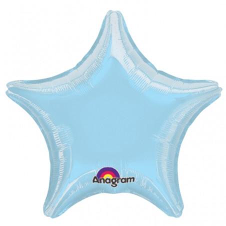 Balon folie 45 cm uni stea bleu