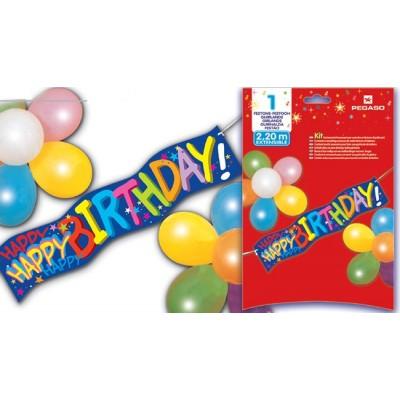 Ghirlanda cu baloane Happy Birthday