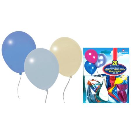 Set 20 baloane asortate metalizate