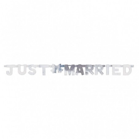 Banner litere Just Married