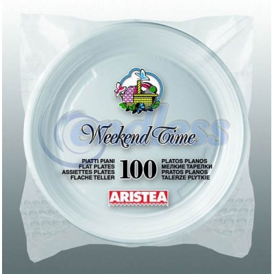 100 farfurii albe plate 20,3 cm de unica folosinta