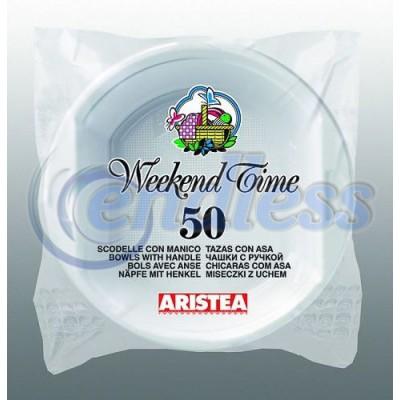 Set 50 boluri albe pentru supa 650 cc unica folosinta