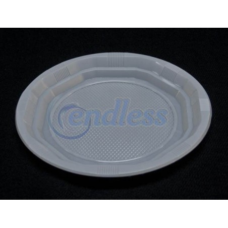 Set 50 farfurii plate albe 21 cm unica folosinta