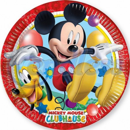 Set 8 farfurii party 23 cm MICKEY PLAYFUL