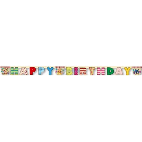 Banner litere Happy Birthday Winnie Alphabet