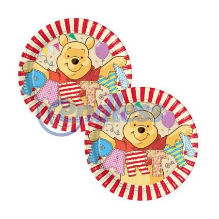 Set 8 farfurii carton 20 cm Winnie Alphabet