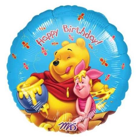 Balon folie 45 cm Winnie Happy Birthday