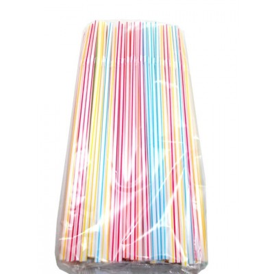 Set 100 paie pentru baut flexibile cu dungi