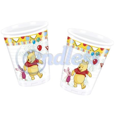 Set 8 pahare plastic 200 ml Winnie Sweet Tweets