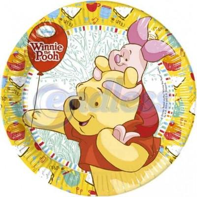 Set 8 farfurii carton 23 cm Winnie Sweet Tweets