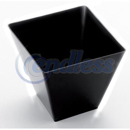 Set 12 cupe plastic negre 90 cc