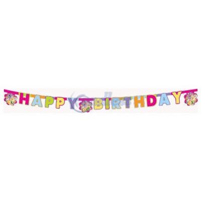 Banner litere decupate Happy Birthday Fairies