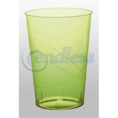 Set 6 pahare plastic verzi 200 cc