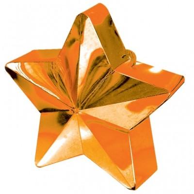 Greutate pentru baloane forma stea Orange