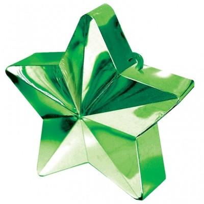 Greutate pentru baloane forma stea Verde