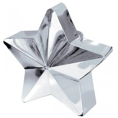 Greutate pentru baloane forma stea Argintie