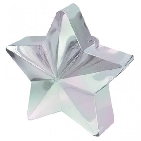 Greutate pentru baloane forma stea Iridiscenta