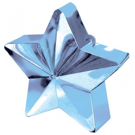 Greutate pentru baloane forma stea Bleu