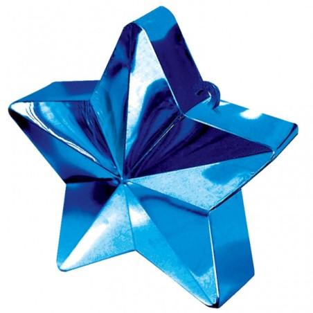 Greutate pentru baloane forma stea Albastra