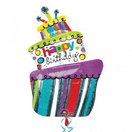 Balon folie figurina prajitura Funky Birthday