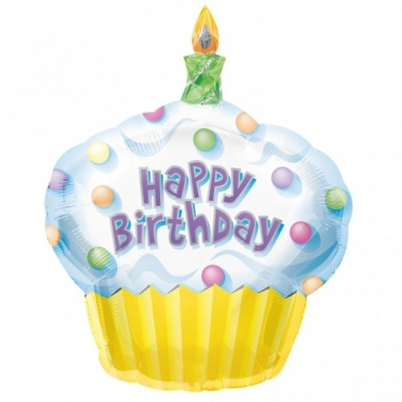 Balon folie figurina prajitura Happy Birthday