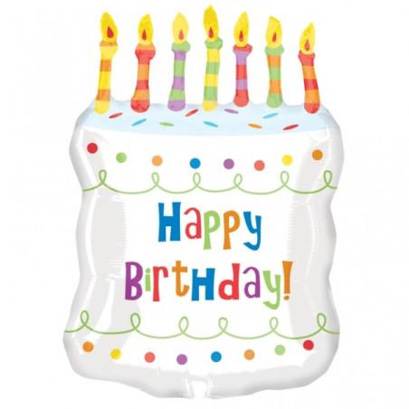 Balon folie figurina tort Happy Birthday