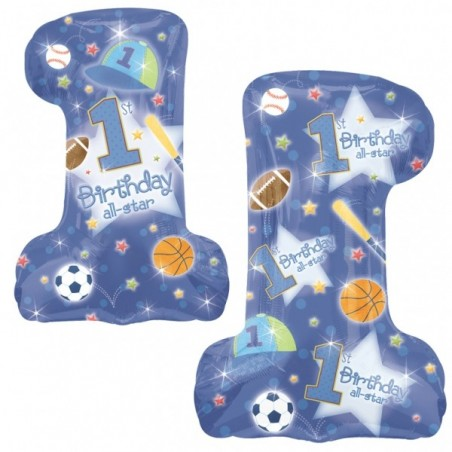 Balon folie figurina 1st Birthday All-Star Boy