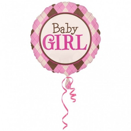 Balon folie jumbo 81 cm Baby Girl