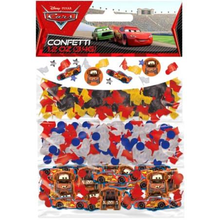 Set 3 pungute confetti pentru masa Cars