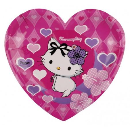 Set 6 farfurii inima Charmmy Kitty