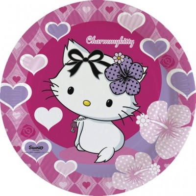 Set 8 farfurii 23 cm Charmmy Kitty