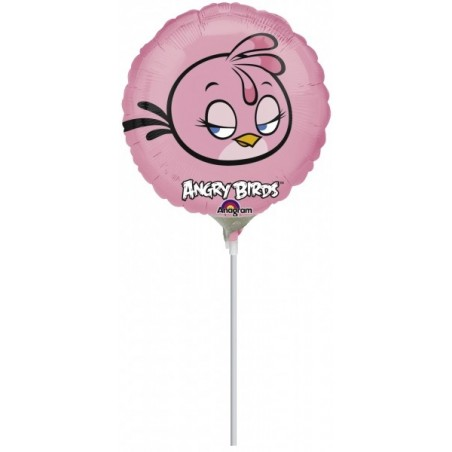 Balon mini folie Angry Birds - Pink Bird