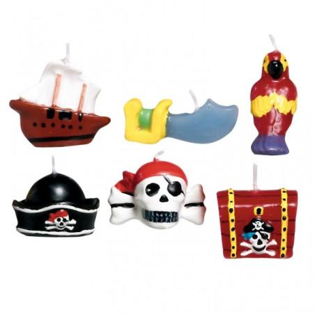 Set 6 lumanari minifigurine Pirati