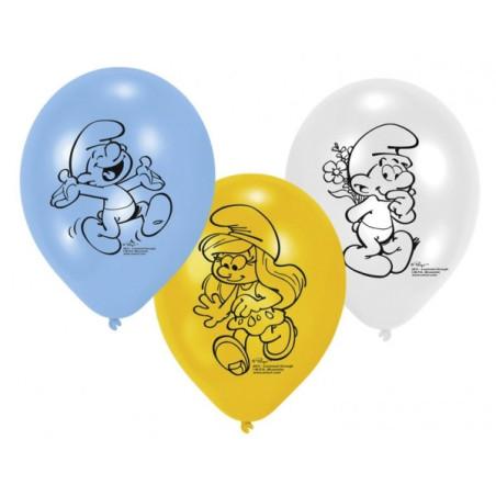 Set 6 baloane Strumfi