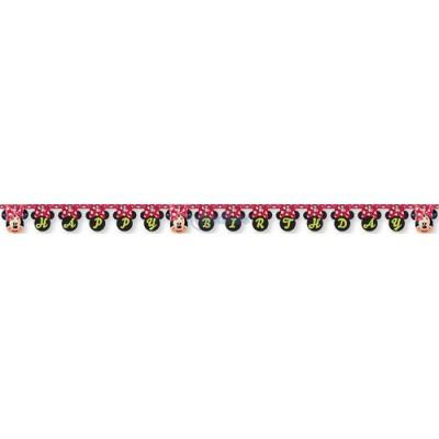 Banner Happy Birthday Minnie Fashion