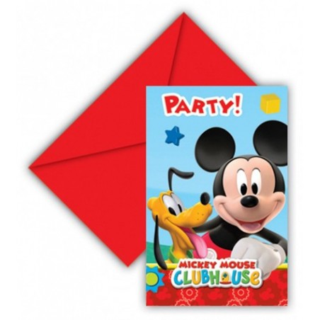 Set 6 invitatii party Mickey Playful
