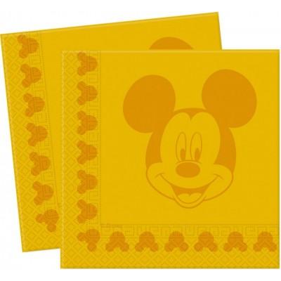 Set 20 servetele Mickey Face Yellow