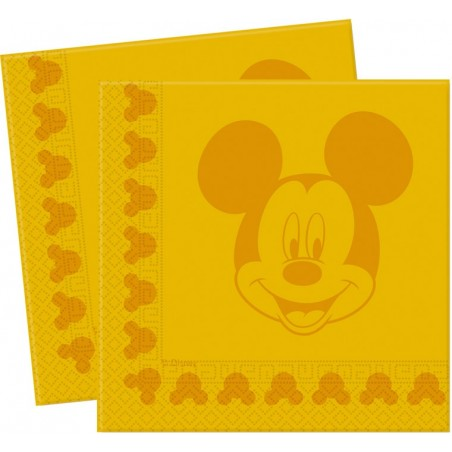Set 20 servetele Mickey Face Yellow