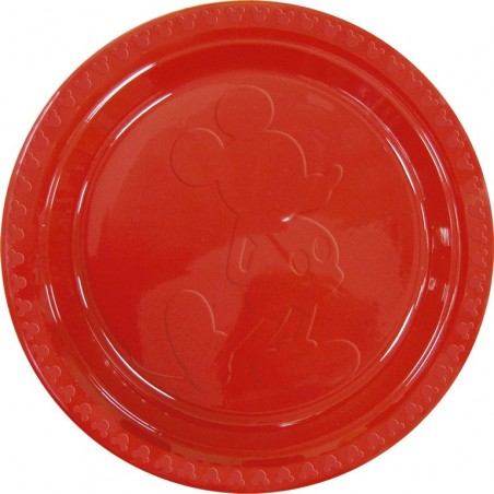 Set 6 farfurii plastic Mickey Red