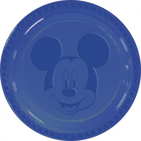 Set 6 farfurii plastic Mickey Face Blue