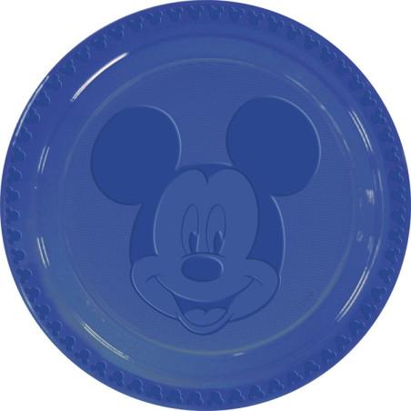 Set 6 farfurii plastic Mickey Face Blue