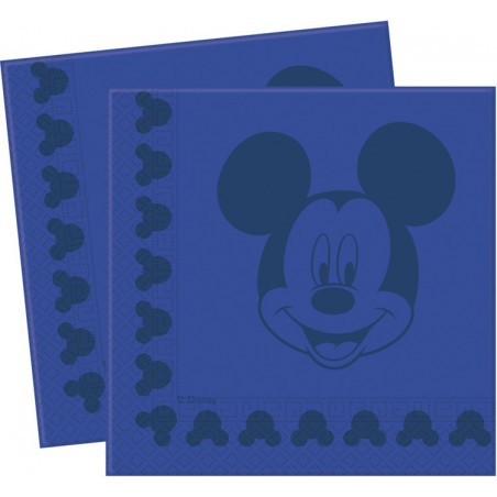 Set 20 servetele Mickey Face Blue