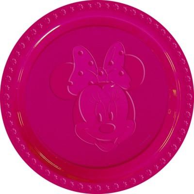 Set 6 farfurii plastic Minnie Fuchsia